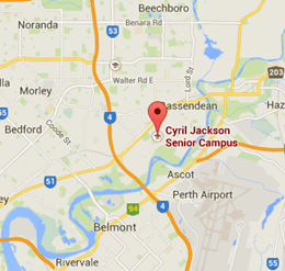 map to education support centre at cyril jackson senior campus perth